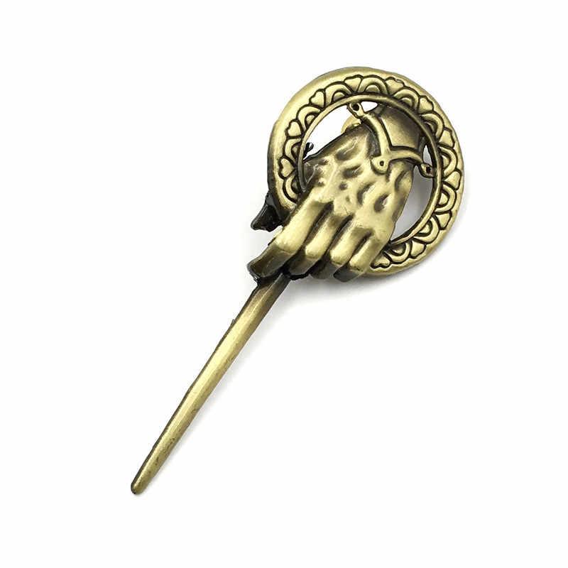 Игра брошь троны рука короля Броши для женщин и мужчин нагрудная булавка винтажная безделушка одежда воротник булавки