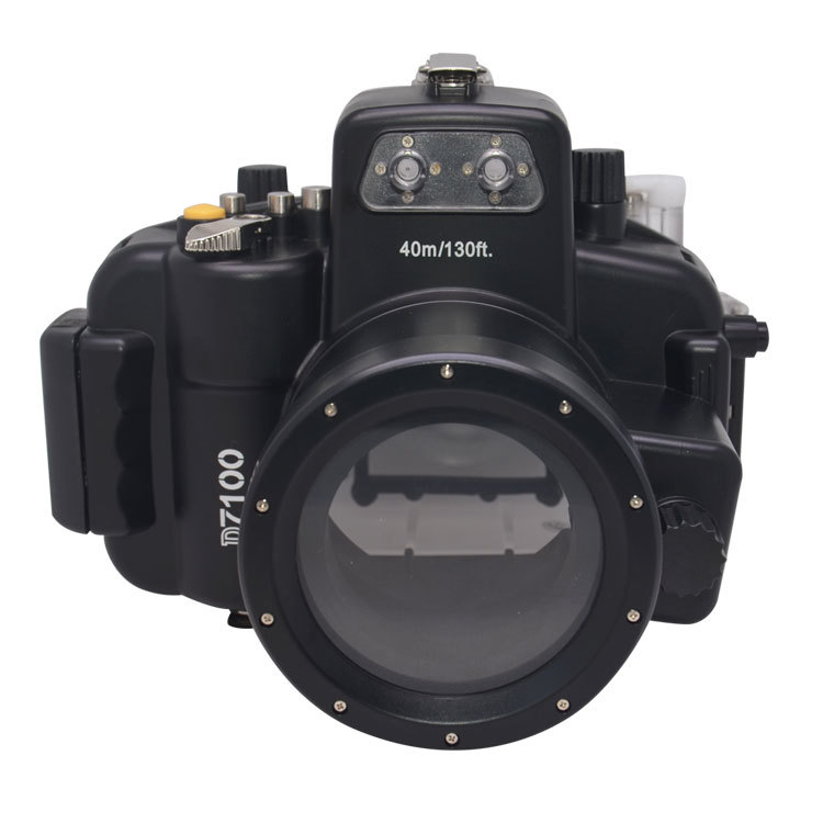 Mcoplus 40m/130ft Waterproof Camera Underwater Housing Diving Case for Nikon D7100 with 18-55mm lens 65 95 55mm waterproof case