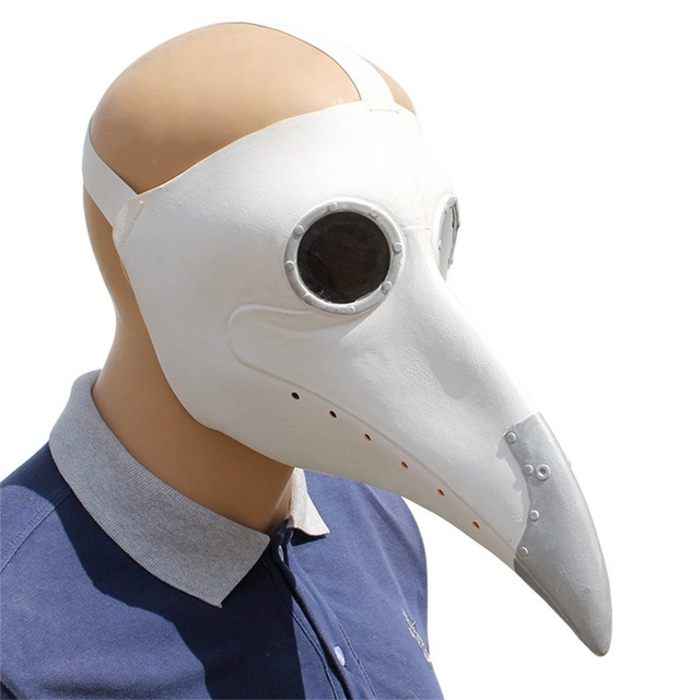 Plague Doctor Cosplay Costumes Steampunk Bird Mask Costume Fancy Dress Latex Masks Halloween Party 1