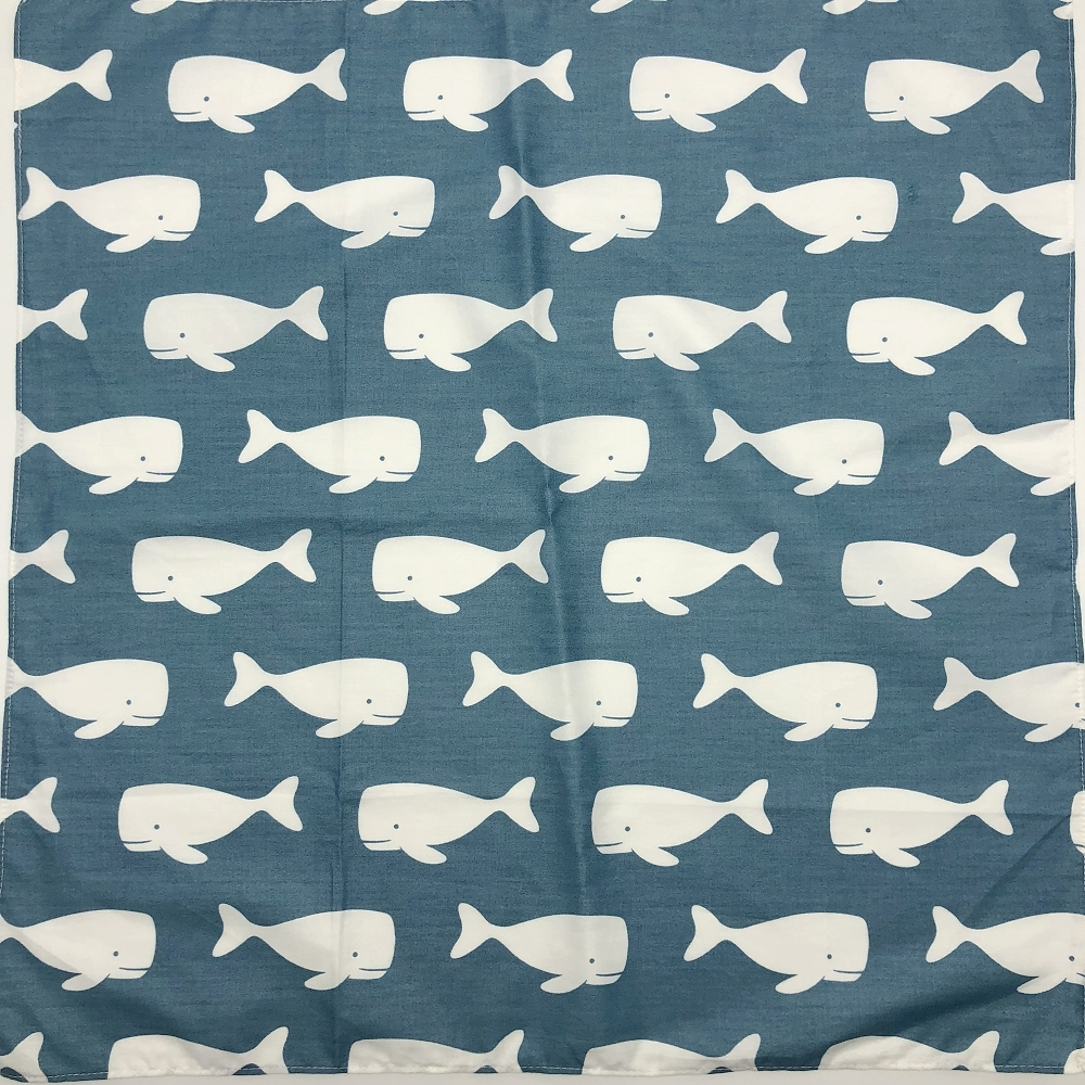 Dolphins Printed Bandanas Headbands Furoshiki Scarf Handkerchiefs Placemat So Many Uses / 100% Cotton Size 48cm(+-1cm)