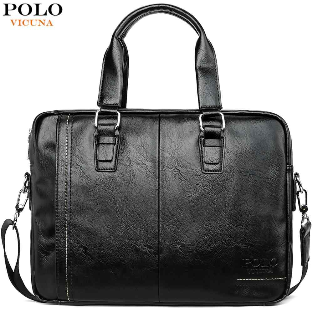 VICUNA POLO New Arrival High Quality Leather Man Messenger Bag Bag Set Brand Men's Briefcases Business Laptop Men Handbag