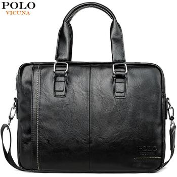 VICUNA POLO New Arrival High Quality Leather Man Messenger Bag Bag Set Brand Men