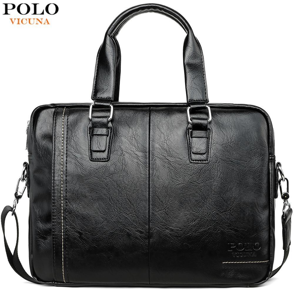 Vicunha polo nova chegada de alta qualidade couro homem saco do mensageiro conjunto marca masculino pastas negócios portátil bolsa