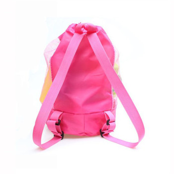 Foldable Beach Toy Bag Sand Away Beach Storage Pouch Tote Mesh Bag Travel Toy Organizer Sundries Net Drawstring Storage Backpack 2
