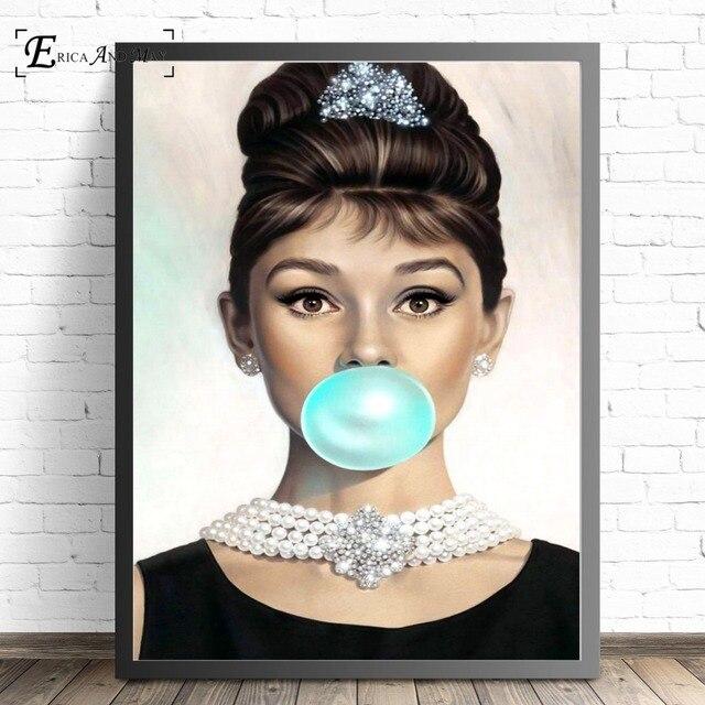 Audrey Hepburn Kaugummi Zitieren Leinwand Malerei Poster Und Drucke Für B oom Keine Gerahmte Wand Kunst Bild Home Decor