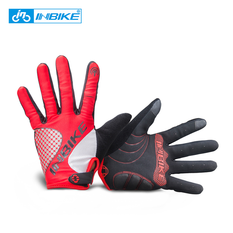 INBIKE 2018 New Full Finger Gloves Winter Windproof Women Men For Outdoor Sport Touch Screen Runing Hiking Shockproof Gloves