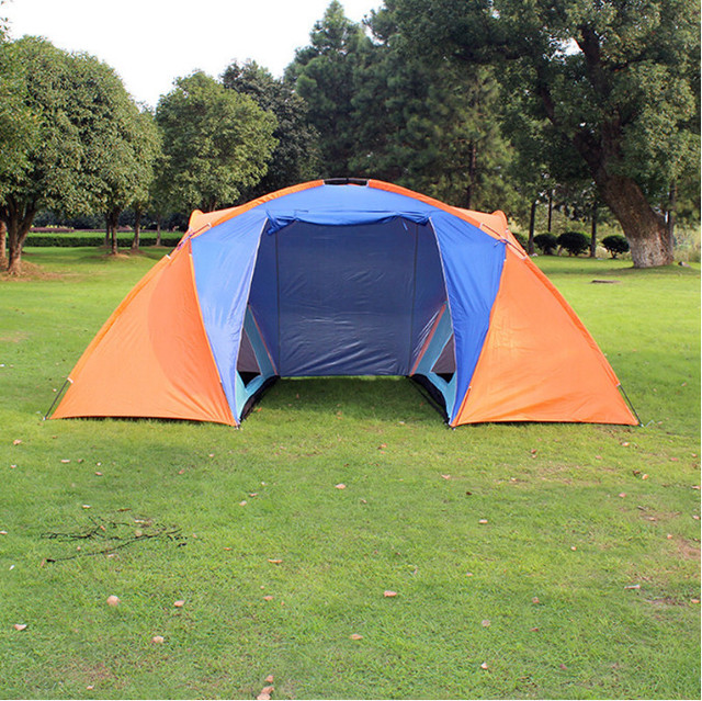 3-4 People Outdoor C&ing Tents Waterproof Breathable Comfortable Anti-tear Double Layer Tents & 3 4 People Outdoor Camping Tents Waterproof Breathable Comfortable ...
