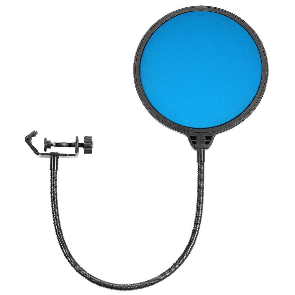 Neewer de doble capa 6 pulgadas 360 grados micrófono filtro Pop micrófono de estudio forma redonda viento Shield máscara cisne