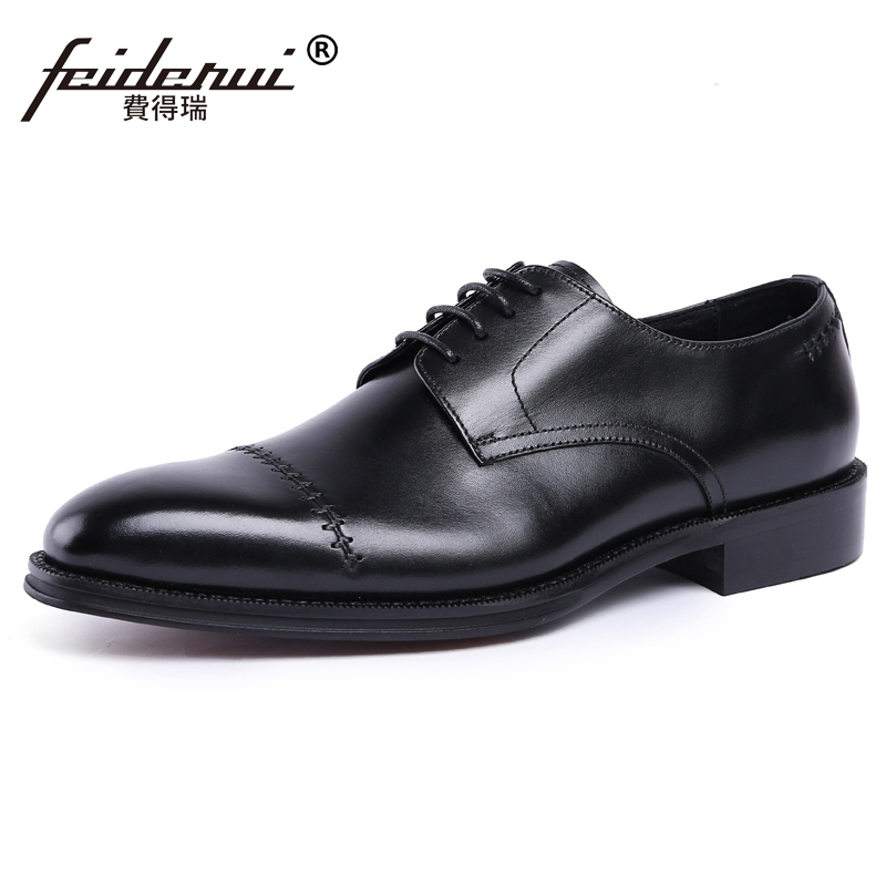 2018 Luxury Formal Dress Man Derby Shoes Genuine Leather Round Toe Lace up Men's Oxfords Handmade Wedding Party Footwear JS64 divage pastel lip liner карандаш для губ pastel 2204