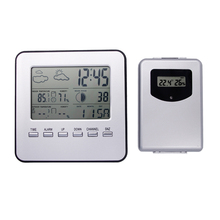 Cheap price Digital Home Wireless Weather Station Table Desktop Calendar Alarm Clock  Temperature meter Thermometer Humidity Hygrometer 13%