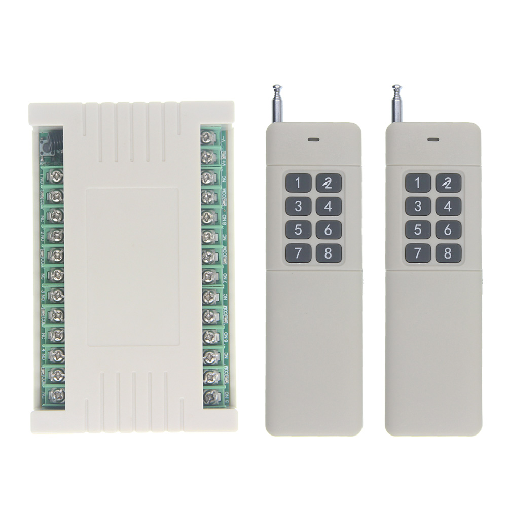3000m Wide Range High Power 10A Relay DC 12V 24V 8 CH 8CH Wireless RF Remote Control Switch Transmitter & Receiver