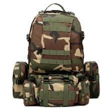 55L 600D nylon Militärische Taktische Rucksack Sport 3D Molle Rucksack abgrifffeste Camping wandern Rucksack bergsteigen klettern Tasche