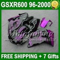 + фиолетовый огонь зализа для SUZUKI GSXR 600 GSX R600 SRAD 96 97 98 99 00 GSXR600 3C393 пурпурно фиолетовых 1996 1997 1998 1999 2000