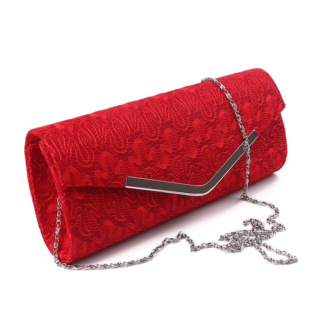 Lace Evening Bag Women Vintage Red Hand Bags Envelope Day Clutch Luxury Wedding Party Purse For Bridal Mini Wallet bolso XA200H