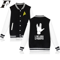 Star Trek Designs Baseball Jacket Women Men Off White Bomber Jacket In Spock Live Long And