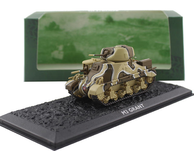ATLAS 1/72 World War II M3 Grant medium tank Alloy collection model Holiday gift
