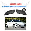 Углеродное волокно замена типа боковое зеркало заднего вида крышки для Volkswagen VW Passat CC 12-17 Scirocco 08-17 beetle 13-17