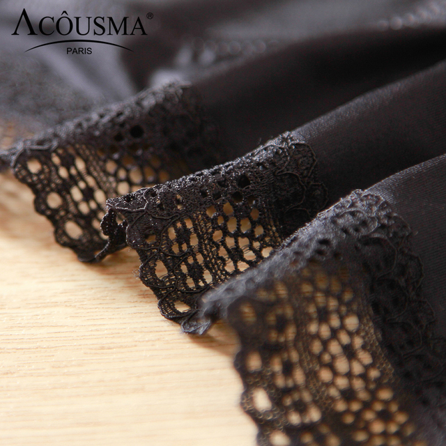 ACOUSMA Women G-String Hollow Out Lace Sexy T Back Thongs Panty Underwear Seamless Breathable Farbic Low Waist 8 Colors Optional 4