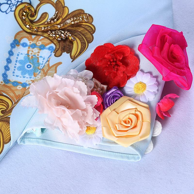 Impression Multi Floral O New Marie Dg229 Appliques Mince Vierge Moulante Brand Par Robe Mode cou Megyn Fleur Robes 3d Designer Cp6FRwq