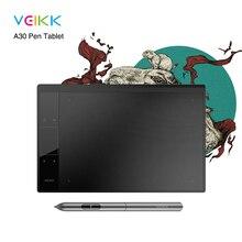 VEIKK A30 графический планшет для рисования с 8192 уровнями без аккумулятора-10 «x 6» Активная область компьютерная периферийная система