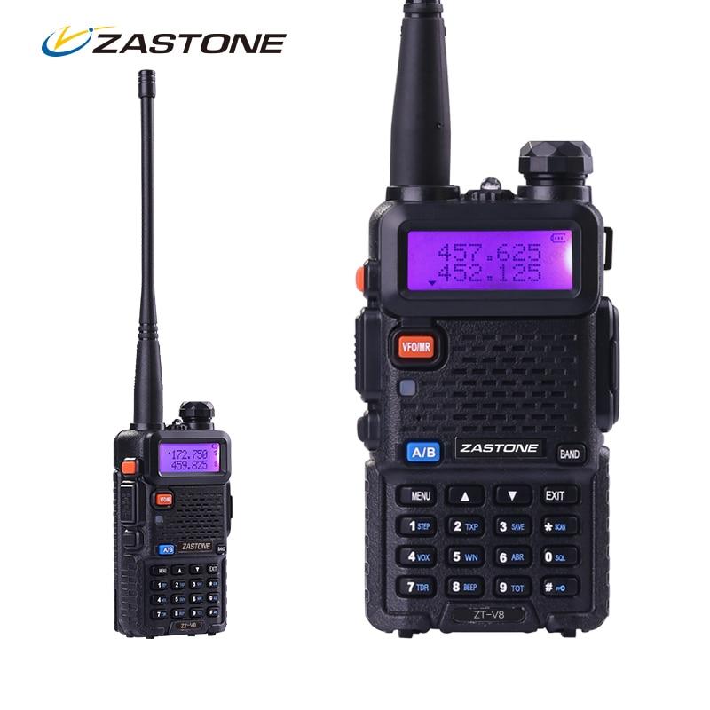 Zastone ZT V8 Portable CB Walkie Talkie For Hunting Radio Dual Band VHF UHF Handheld Two