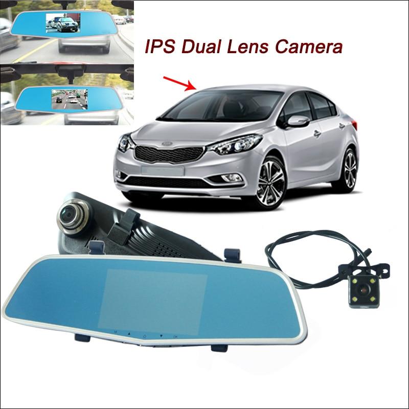 Здесь можно купить  BigBigRoad For kia sorento Car DVR dash cam Rearview Mirror Video Recorder Dual Camera Novatek 96655 5 inch IPS Screen  Автомобили и Мотоциклы