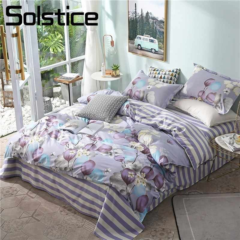 Purple Flower Bedding Sets S Woman