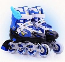 Бесплатная доставка детские роликовые коньки 8 колес мигают только скейт обувь 8103