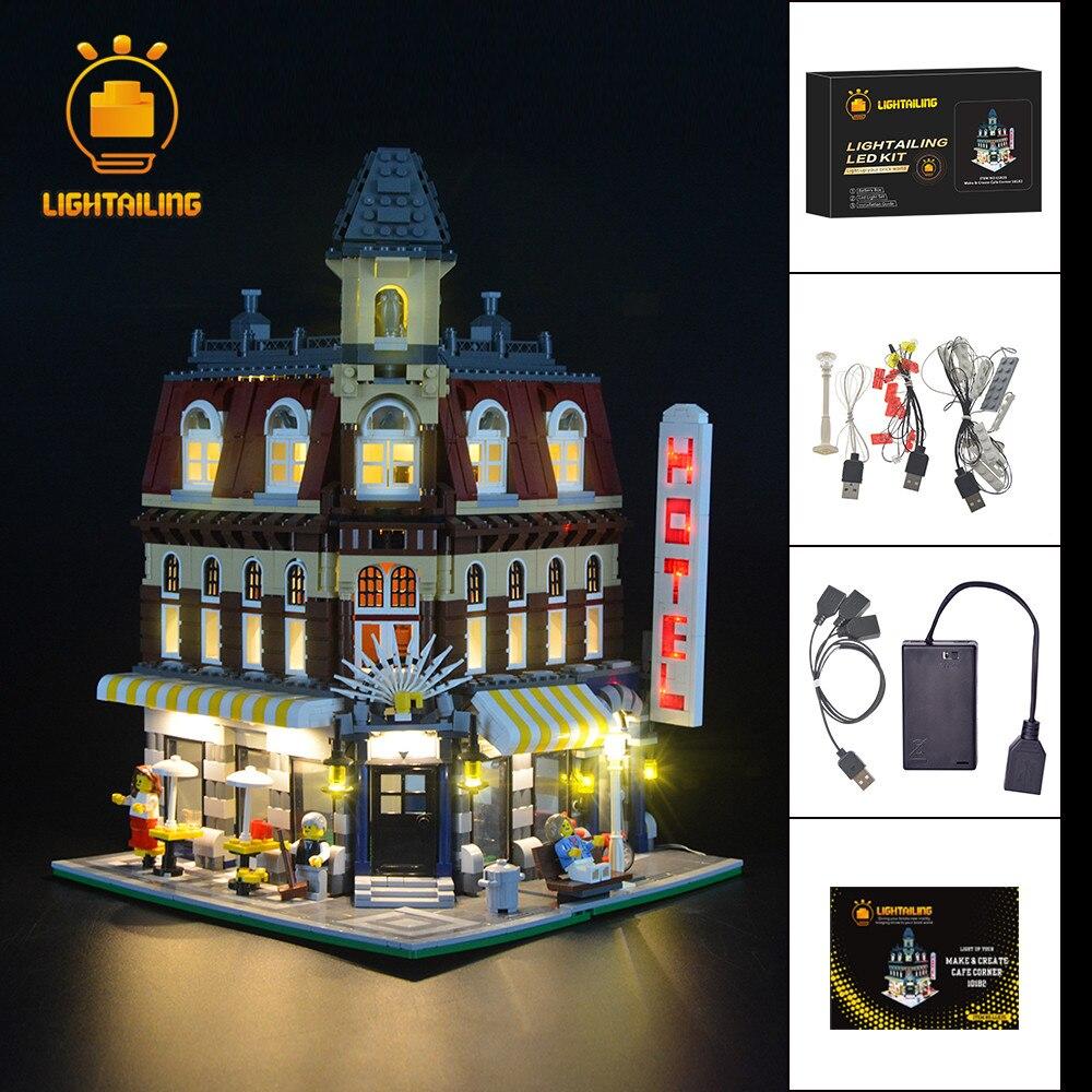 LIGHTAILING Led Light Up kit For Creator Make Create Cafe Corner Building Block Light Set Compatible