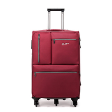 Men And Women 24 Inch Business Oxford Cloth Computer Trolley Luggage Brand Suitcase On Wheels Board Travel Bag Luggage Spinner
