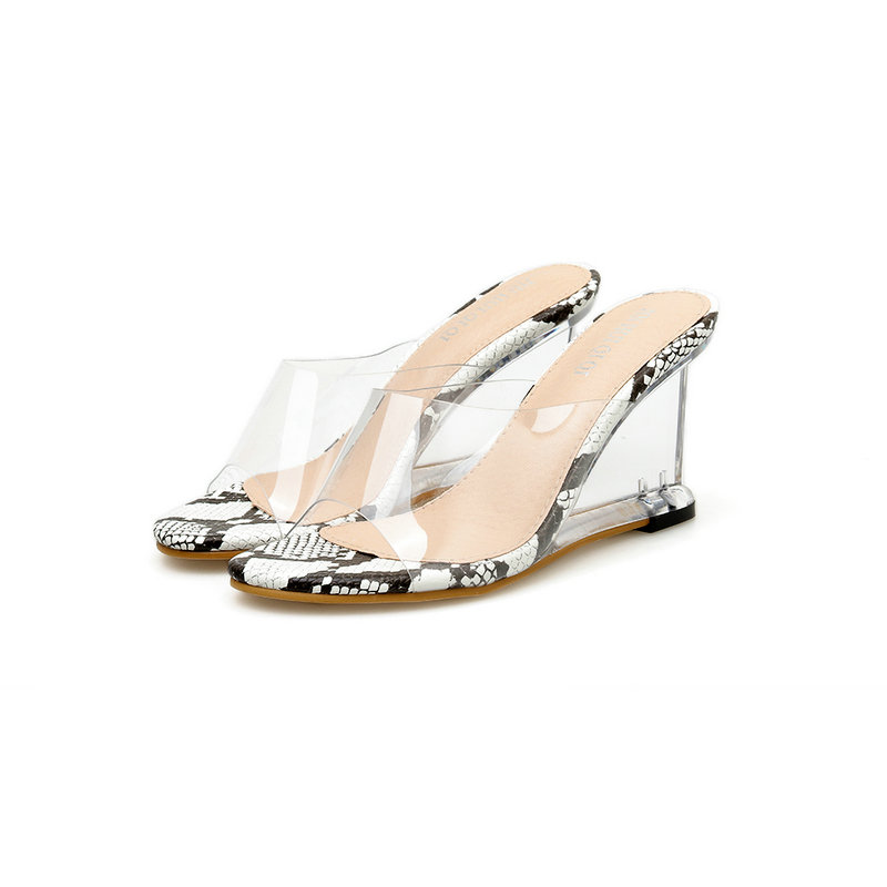 keil kristall f Sommer neue transparente sandalen xoredCWB