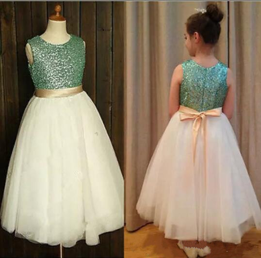 New Arrival Flower Girl Dresses with Sashes Ball Party Dress Pageant Dress for Little Girls Kids Dress for Wedding