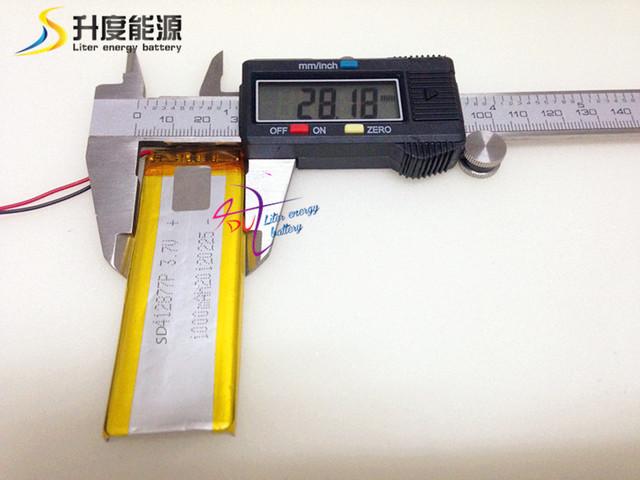 SD412877 alta temperatura lipo batería de iones de litio de la batería operar temperatura-20-60 1000 mah