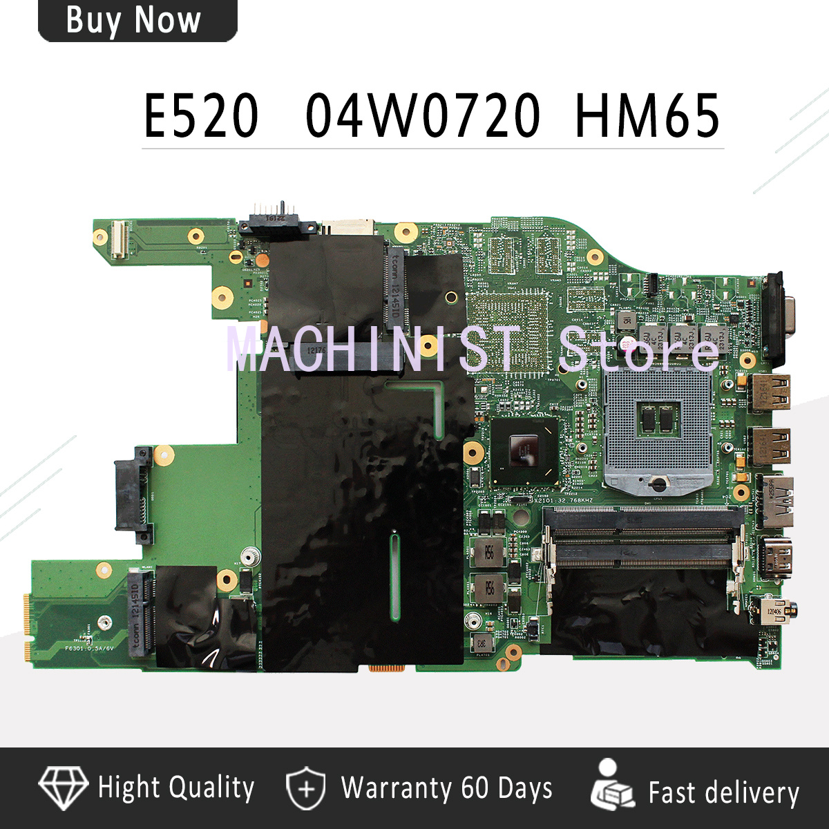 E520 motherboard For Lenovo ThinkPad IBM E520 04W0398 04W0720 laptop notebook motherboard HM65 DDR3 PGA988B