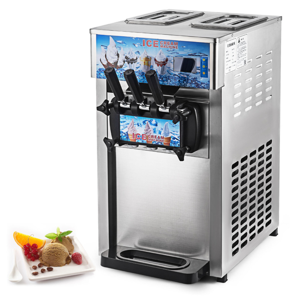 Summer Ice Cream Machine Commercial 1200W Soft Serve Ice