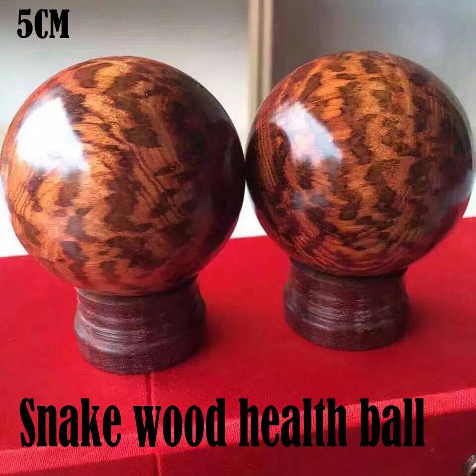 Balle de santé en bois de serpent le plus fin avec exercice de handball en bois pleine fleur méditation soulagement du Stress Fitness Handball