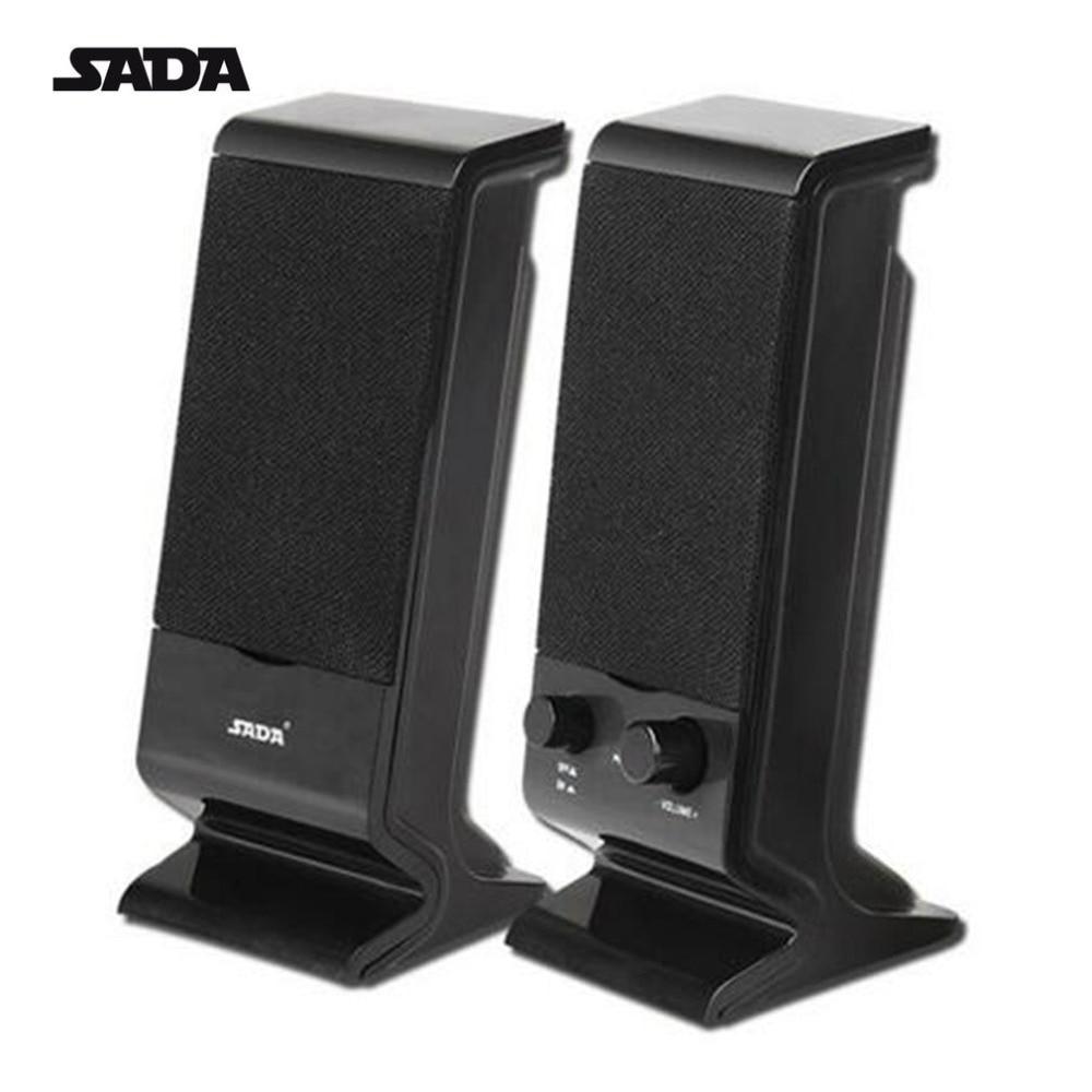 SADA Stereo Bass Mini Portable USB Combination Speaker For Computer Laptop Notebook Desktop Subwoofer Loudspeaker