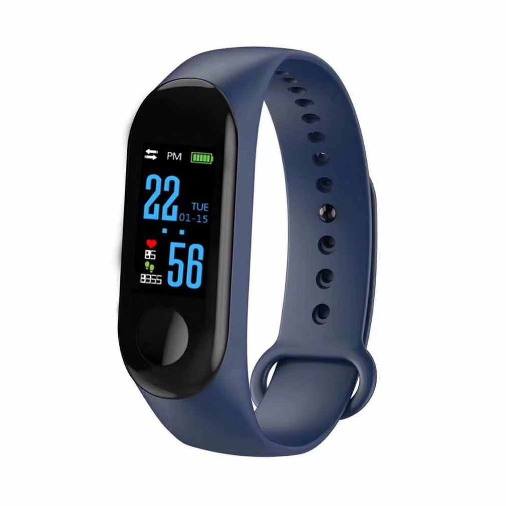 M3 Smart Bracelet Color Screen IP68 Waterproof Heart Rate Blood Pressure Monitor Tracker Replaceable Watch For Android IOS 2019