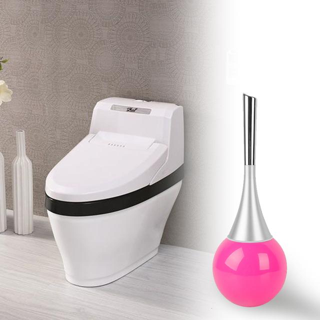 1PC Creative Toilet Brush Bathroom WC Scrub Cleaning Holder Stainless Steel Set