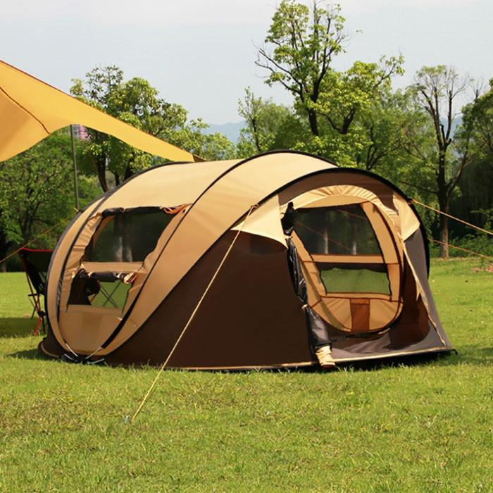 3-4 Personen 200 * 280 * 120cm Reisewanderzelte Wasserdicht Winddicht - Camping und Wandern