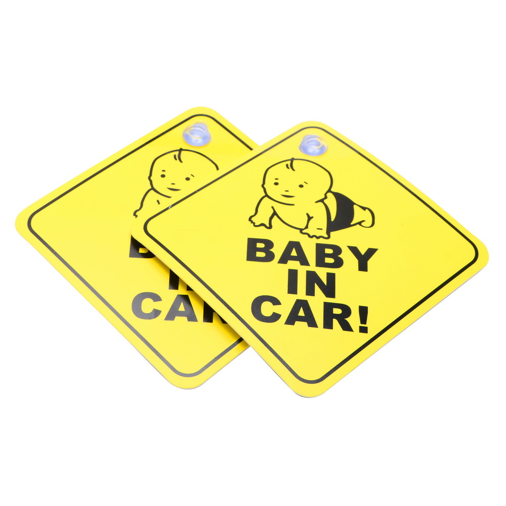 2 шт. ребенок в машине ПВХ сосал Тип окна Предупреждение уведомления безопасности автомобиля Стикеры Предупреждение Марк знак Стикеры