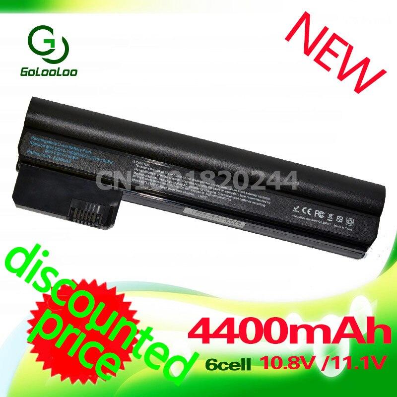 Golooloo 4400mAh Laptop battery for COMPAQ Mini CQ10 CQ10-400 Series for HP HSTNN-DB1T HSTNN-DB1U HSTNN-E04C WQ001AA 06TY