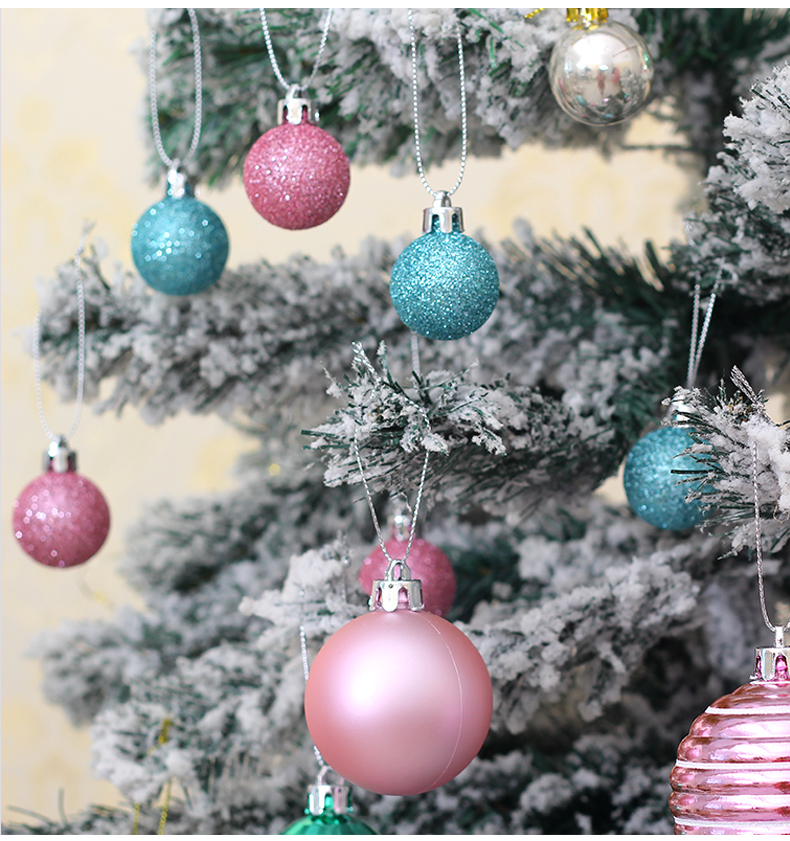 07 inhoo Plastic Christmas Balls For Home Christmas Tree Decorations White Baubles Xmas Ornaments Pendant Balls 2019 New Year Gifts