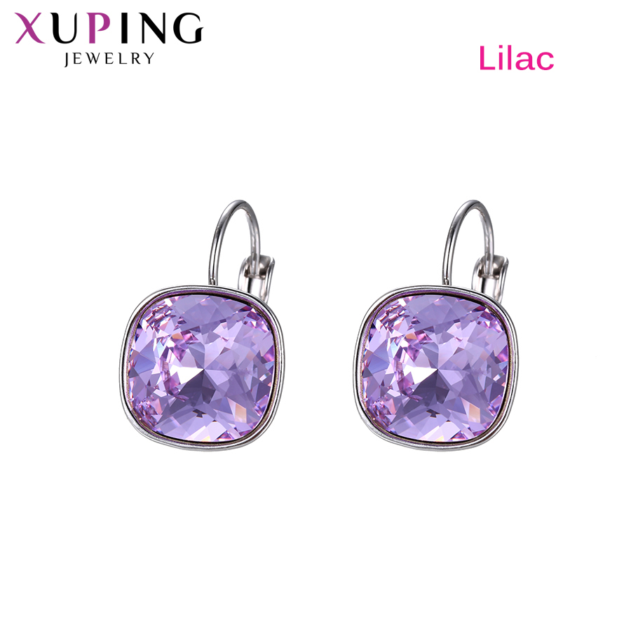 Xuping jóias elegante elegante shinning hoop brincos