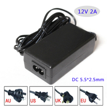 AC/DC adapter 12V 2A 24W Led switching power supply Table type with ac cable AU/EU/UK/US plug available