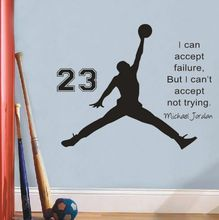 2018 NewMichael Jordan Basketball Inspirational Wall Sticker citations vinyle stickers muraux Art Mural enfants Room