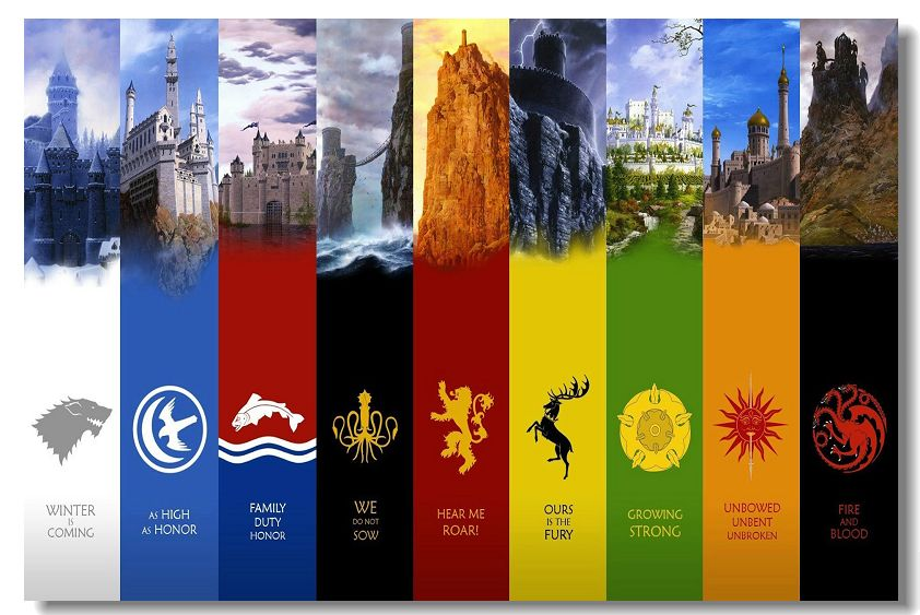Game of Thrones TV Season 2 3 4 Wall Poster 36x24 18x12...