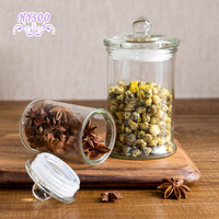 Transparent Glass Sealed Cans Large Tea Cans Storage Tank Kitchen Food Tea Tea Moisture Storage Tank