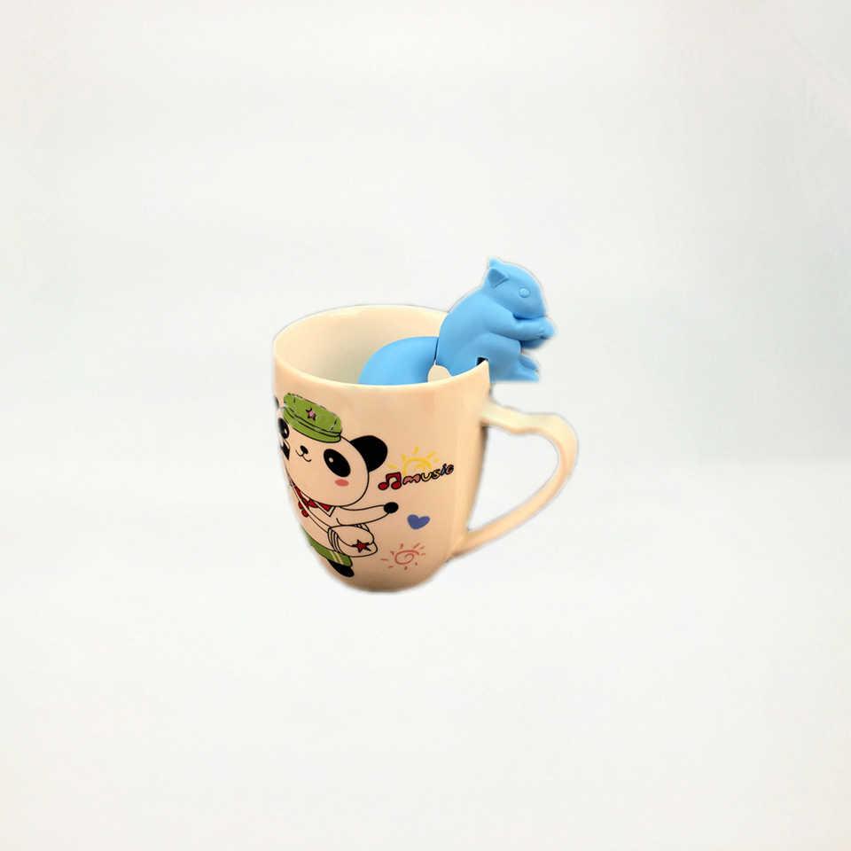Herramientas de filtro de Infusor de té reutilizables de alta resistencia a la temperatura diseño Animal lindo no tóxico
