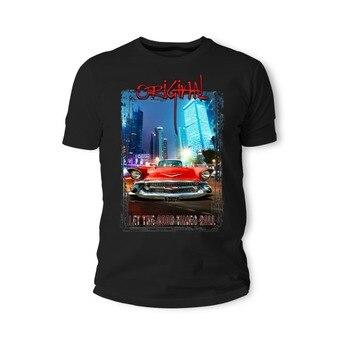 T camisetas de moda de 2019 camiseta americano músculo coche clásico Bel Air rojo Auto Youngtimer Oldtimer Herren